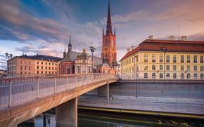 Picture bridge, home, channel, Stockholm, Sweden