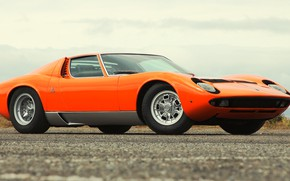 Picture Auto, Lamborghini, Retro, Machine, Orange, Eyelashes, 1969, Lights, Car, Supercar, Miura, Supercar, Lamborghini Miura, Italian, …