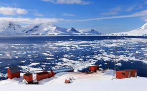 Picture sea, the sky, Antarctida