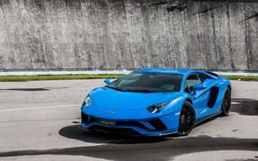 Picture Lamborghini, Blue, Aventador, s