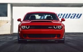 Picture Challenger, red, sportcar, 2018, musclecar, SRT, Demon
