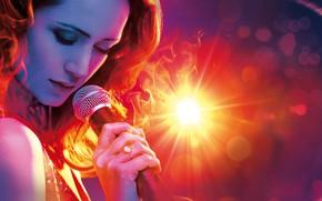 Wallpaper microphone, singer, Russia, poster, drama, Victoria Isakova, Burn!