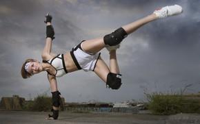 Wallpaper girl, sport, Asian