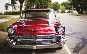 Picture Chevrolet, Red, Classic, Bel Air