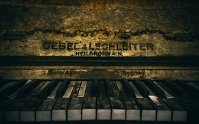 Picture keys, piano, Old Piano