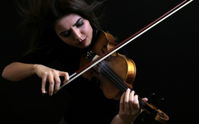 Wallpaper music, violin, girl