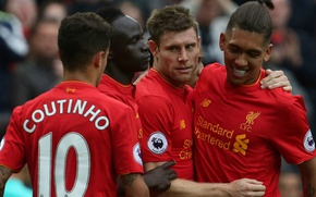 Picture Football, Liverpool, Liverpool, The Premier League, Coutinho, Mane, Firmino, Milner