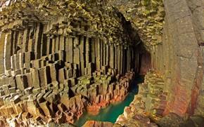 Wallpaper Scotland, the Isle of Staffa, rocks, stones
