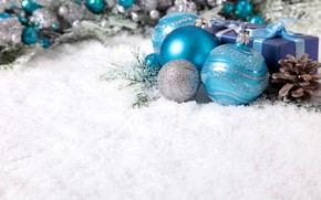 Picture snow, holiday, balls, new year, decor