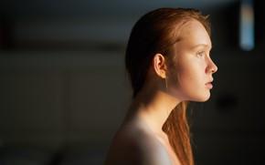 Picture freckles, profile, the beauty, redhead, Arina, Ufa, Askhat Bardunov