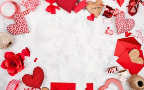 Wallpaper red, Valentine's Day, hearts, hearts, romance, love, gift, romantic, love, decoration
