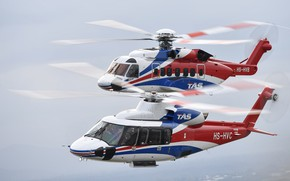 Wallpaper flight, helicopters, S-92, S-76D