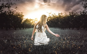 Picture girl, nature, Never Ending Dream