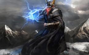 Picture warhammer, power, Thor, viking, god, hammer, Mjolnir, Odin, Valhalla