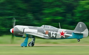 Wallpaper USSR, wallpaper., Yak-11, Normandy Neman, Normandie Niemen, Soviet training fighter, developed by the Yakovlev design ...