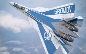 Picture the sky, height, the plane, Su-57LL Gromov Flight Research Institute
