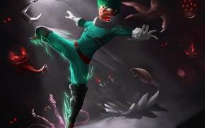 Picture monster, anime, fight, hero, manga, powerful, strong, yuusha, Boku no Hero Academy, My Hero Academia