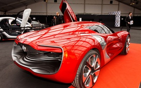 Picture concept, Renault, red, supercar, sports car, electric cars, Renault DeZir