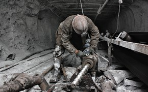Picture dirt, drill, worker, miner