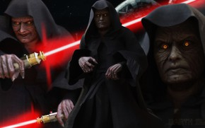 Picture Star Wars, sith, light saber, Dart Sidious