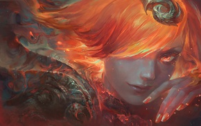 Wallpaper fire, lol, Art, Lux, Elementalist, Fire, Lady of Luminosity, League of Legends