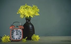 Picture flowers, vase, chrysanthemum
