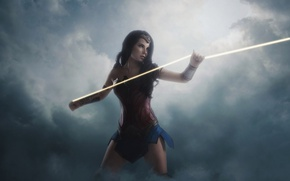 Picture cinema, Wonder Woman, armor, movie, cosplay, brunette, film, warrior, DC Comics, Diana, strong, gauntlet, Themyscira, …