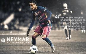 Picture wallpaper, sport, football, player, FC Barcelona, Neymar
