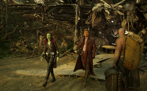 Picture Zoe Saldana, Marvel, Dave Batista, Marvel, Gamora, The old Lord, Gamora, Batista, Chris Pratt, Chris ...
