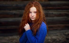 Picture portrait, girl, freckles, redhead, Portrait photography