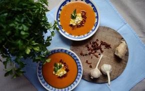Picture garlic, Garlic, Pumpkin soup, Pumpkin cream soup