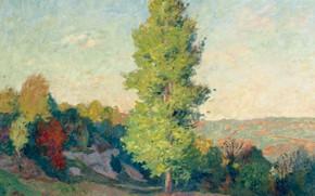 Picture nature, tree, picture, Landscape, Georges d'espagnat