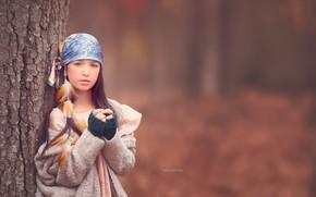 Picture autumn, nature, girl