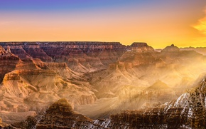 Picture landscape, Grand Canyon, Beautiful sunrise