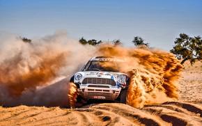 Wallpaper Sand, Mini, Dust, Vinyl, Sport, Desert, Speed, Race, Skid, Britain, Heat, Rally, Rally, Raid, MINI ...