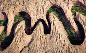 Wallpaper mountains, river, Meandering Canyon