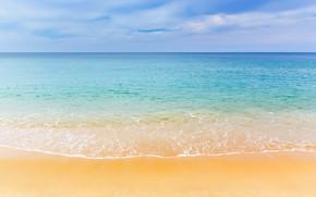 Picture wave, beach, blue, beach, sand, romantic, sand, wave, sea, sea, summer, summer, the sky, sky