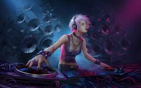 Picture music, art, DJ, disco, wenfei ye, House music all night long