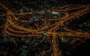 Picture night, lights, panorama, Thailand, Bangkok