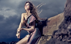 Picture girl, style, the wind