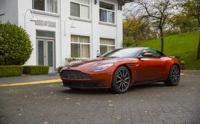 Picture Aston Martin, House, Orange, db11
