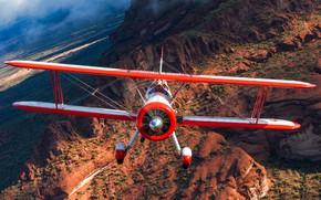Wallpaper the plane, nature, flight, wings, pilot
