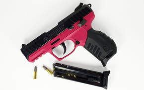 Picture gun, clip, Ruger