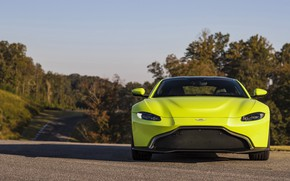 Picture Aston Martin, Vantage, front view, 2018