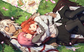 Picture girls, art, guy, picnic, Fate / Grand Order, The destiny of a great campaign