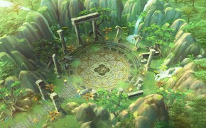 Picture the game, art, arena, location, 'Blade' Concept Art - Theme01. Old Forest, Yong-jin Lee