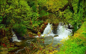 Picture Nature, Spring, Waterfall, Nature, Spring, Waterfall