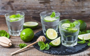 Picture freshness, lime, drink, drinks, mint, Mojito