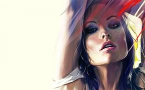 Wallpaper Olivia Wilde, actress, olivia wilde, artwork, art
