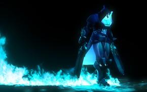 Picture death, rendering, fire, hood, mercenary, reaper, overwatch, Gabriel Reyes